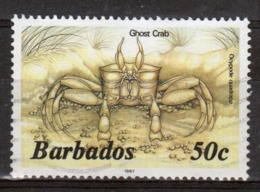 Barbados Single 50c Stamp From The 1985 Marine Life Series. - Barbados (1966-...)