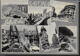 SALUTI DA SAVONA - NUOVA ORIGINALE D'EPOCA - Saluti Da.../ Gruss Aus...