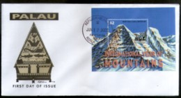 Palau 2002 International Year Of Mountain Sc 695 M/s FDC # 16850 - Geology