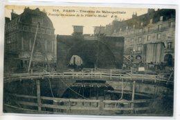 75 PARIS  METROPOLITAIN  Travaux Foncage Caisson Place Saint Michel 1910  /D17-2017 - Metro, Estaciones
