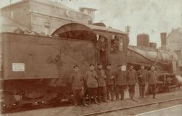 Carte-photo LUXEMBOURG, Chemin De Fer, Locomotive à Vapeur, LINIEN KOMMANDANTUR LUXEMBURG - LONGWY - 1918 - Cartes Postales