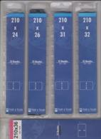 120 Bandes YVERT Et TELLIER Pour Feuilles Neutres Ou Sans Pochettes 210mm * 24 - 26 -31 - 32 - 36 Mm (voir Description) - Albums Met Klemmetjes