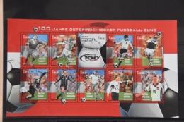 D(A) 059 ++ LOT AUSTRIA OOSTENRIJK VOETBAL FOOTBALL SOCCER USED GESTEMPELD - Blokken & Velletjes