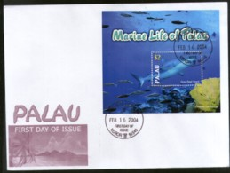 Palau 2004 Grey Reef Shark Fishes Marine Life Animals Sc 758 M/s FDC # 9396 - Marine Life