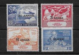 Serie De Aden Nº Yvert 16/19 * - Aden (1854-1963)