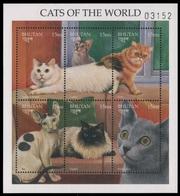 Bhutan 1997 - Mi-Nr. 1725-1730 ** - MNH - Katzen / Cats - Bhutan
