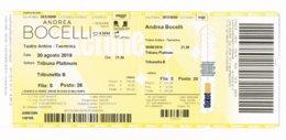 ANDREA BOCELLI TEATRO ANTICO TAORMINA 30 AGOSTO 2019  NIET  GEBRUIKTE TOEGANGSKAART - Tickets D'entrée