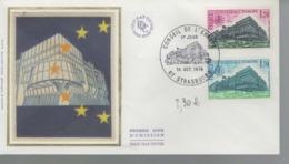 France - FDC 1er Jour - 14 OCT. 1978 - CONSEIL DE L'EUROPE - STRASBOURG - 1970-1979