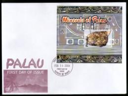 Palau 2004 Gold Bar Minerals Sc 760 M/s FDC # 9431 - Minerals
