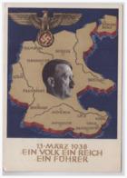 Dt.- Reich (000099) Propaganda Ganzsache P268, Ein Volk , Ein Reich, Ein Führer, Gelaufen Berlin Am 9.4.1938 - Allemagne
