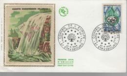 France - FDC 1er Jour - 27 - 9 1969 - CHARTE EUROPEENNE DE L'EAU - STRASBOURG - FDC