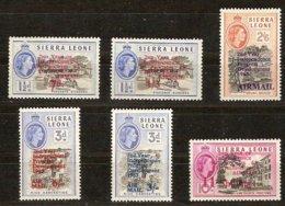 Sierra Leone 1963  Yvertn° PA LP 1-6 (*) MLH  Cote 125 FF - Sierra Leone (1961-...)