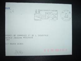 LETTRE PORT PAYE OBL.MEC.9-2 1989 PP 55 VERDUN VILLE D'ART ET D'HISTOIRE - Marcophilie (Lettres)