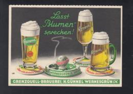 Pk Bier Grenzquell-Brauerei Wernesgrün - Werbepostkarten