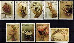 MBP-BK2-032-2 MINT ¤ GUYANA 1987 9w OUT OF SET MINT ¤ FLOWERS OF THE WORLD - ORCHIDEE - FLEURS BLÜMEN BLOEMEN - Orchids