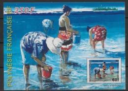 2004  Polynésie Française N°  BF 30  Nf** MNH . Femmes Ramassant Les Coquillages. - Blocs-feuillets