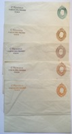 France 1865 Entier Postal RARE 3e Projet Renard 5 Enveloppes Storch F1(Napoléon III Postal Stationery Essay Essai Lettre - Enteros Postales