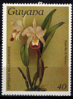MBP-BK2-031-2 MINT ¤ GUYANA 1986 1w OUT OF SET- MINT ¤ FLOWERS OF THE WORLD - ORCHIDEE - FLEURS BLÜMEN BLOEMEN - Orchids