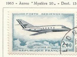 """PIA - FRA - 1965 : Aereo """"Mystère 20""""  - (Yv P.A. 42) - Aerei"""