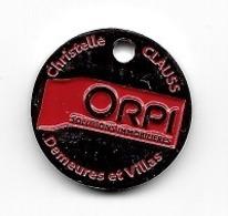 Jeton De Caddie  Ville,  Christelle  CLAUSS  ORPI  Solutions  Immobilières, Domaines  Et  Villas  à   67150 Erstein - Munten Van Winkelkarretjes