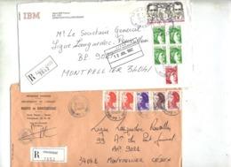 Dernier ! Lot 61 Lettre Recommandée Cachet Machine Vignette Herault à Voir Entete Football - Marcophilie (Lettres)