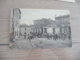 CPA 30 Gard Gallargues La Place Du Marché  BE - Gallargues-le-Montueux