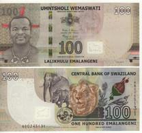 SWAZILAND New 100  Emalangeni   6.9.2017   Pnew  UNC - Swaziland