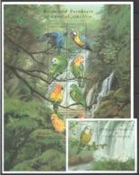 W632 GUYANA FAUNA BIRDS & PARAKEETS OF CENTRAL AMERICA 1SH+1BL MNH - Parrots