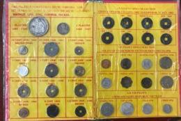 Asie, Monnaie, Indochine - Annam - Vietnam, Lot De 34 Pièces, Bronze - Led - Zinc - Copper - Nickel - Monnaies