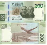 MEXICO   New  200 Pesos  COMMEMORATIVE Issue   2019.  UNC - Messico