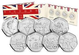 Isle Of Man Set Of 6 50p Coins - Peter Pan Uncirculated - Isle Of Man