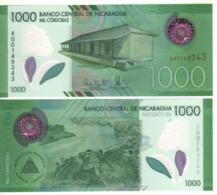 NICARAGUA.  New. 1000  POLIMER  Issue .  2019  UNC - Nicaragua
