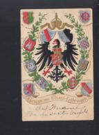Dt. Reich Präge-karte Elsass Lothringen 1902 - Elsass