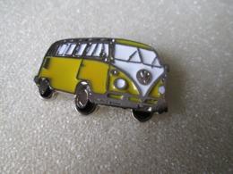 PIN'S   VOLKSWAGEN   COMBI  JAUNE    Email A Froid - Volkswagen