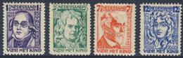 Nederland Netherlands Pays Bas 1928 Mi 218 /1  YT 215 /8 SG 373 /6 * MH - Minckelers, Boerhaave, Lorentz, Huygens - Famous People