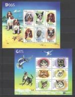 M702 ANTIGUA & BARBUDA FAUNA PETS DOGS CATS 2KB MNH - Honden