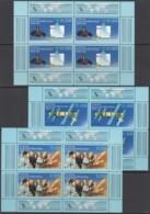 DDR 3190-3192, 3 Kleinbogen, Postfrisch **, Gem. Weltraumflug UdSSR-DDR 1988 - Blocks & Sheetlets