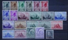 BELGIE  1937-38   Nrs. 458 - 65 / 466-70 / 471-77 / 477A En 478    Scharnier *    CW 65,00 - Belgique