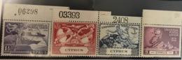 Colonie Britannique, Chypre N° 151 / 154 ** ( Infime Trace De Charnière Sur Le Bord De Feuille ) TB - U.P.U - - Cyprus (...-1960)