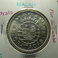 Portuguese Macau 5 Patacas 1952 Silver - Portugal