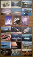 Lot De 21 Cartes Postales / Paquebot & Ferries - Piroscafi