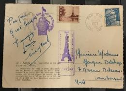 France, Carte Photo, Souvenir De La Tour Eiffel ( Octobre 1948 ) - Denkmäler