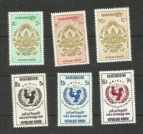 Khmère N°281 à 286 Neufs** Cote 3.85 Euros - Cambodge