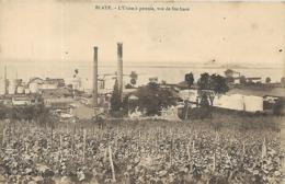 33, Gironde, BLAYE, L'Usine à Pétrole, Vue De Sainte-Luce, Scan Recto-Verso - Blaye