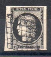 YT N° 3 BDF Signé Avec Voisin - Cote: 65,00 € - 1849-1850 Cérès
