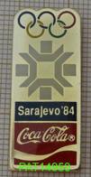 COCA JO SARAJEVO 84 1984 En Version EPOXY STARPINS - Coca-Cola