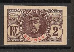 Guinée - 1906 - N°Yv. 34a - Faidherbe 2c - Non Dentelé / Imperf. - Neuf (*) / MNG - Guinea Francesa (1892-1944)