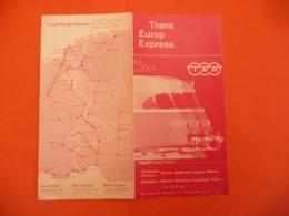 1961 - TEE Trans Europ Express - Gottardo - Ticino - Cisalpin - Zürich Gotthard Lugano Milano --- Lausanne Paris - Libros, Revistas, Cómics