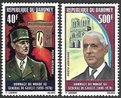 Dahomey  1971   Sc#C136-7  De Gaulle Airmail Set  MNH  2016 Scott Value $7.30 - Benin - Dahomey (1960-...)