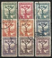 Turkey 1931 - Mi. 936-944 O, Balkan Conference, Olive Tree | Olea Europaea | Balkan Map - 1921-... República
